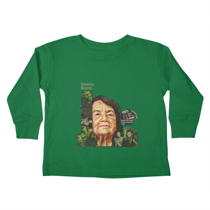 Dolores Huerta Kids Toddler Longsleeve T-Shirt by Afro Triangle's