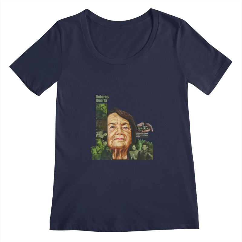 Dolores Huerta Women's Scoopneck by Afro Triangle's
