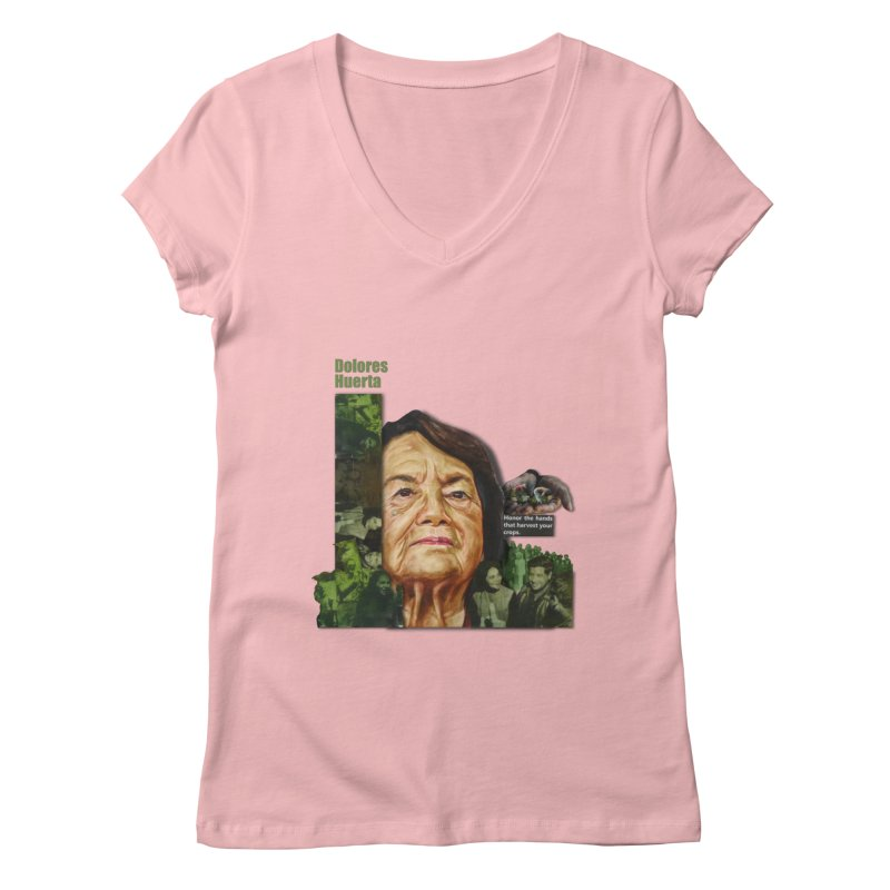 Dolores Huerta Women's V-Neck by Afro Triangle's