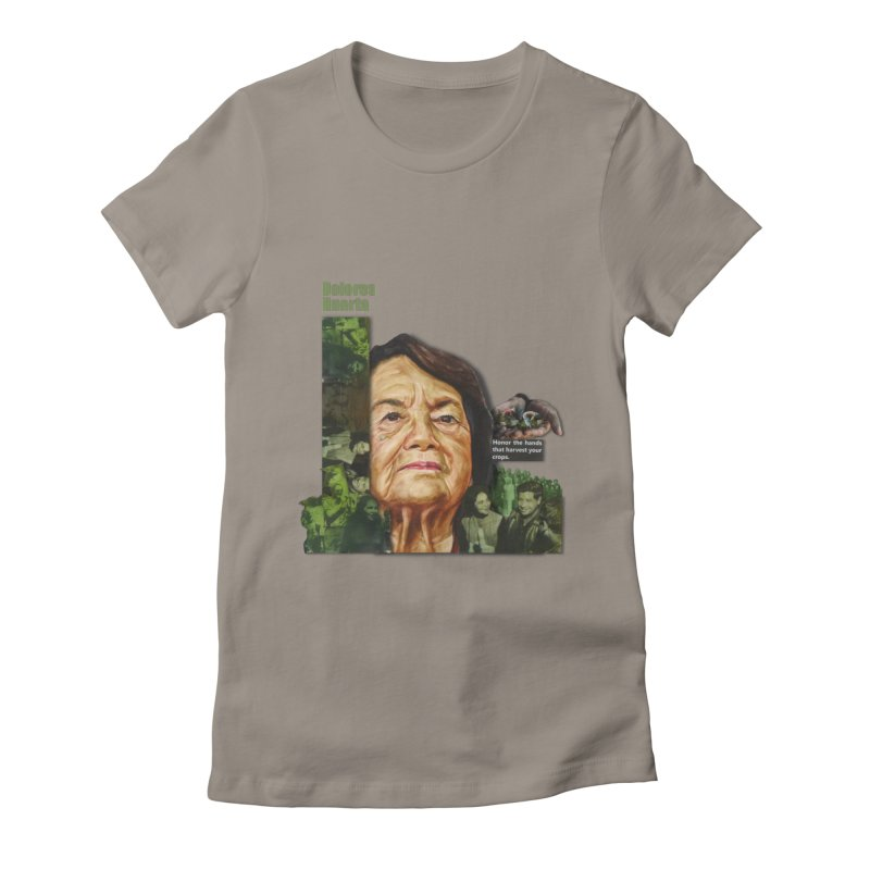 Dolores Huerta Women's Fitted T-Shirt by Afro Triangle's