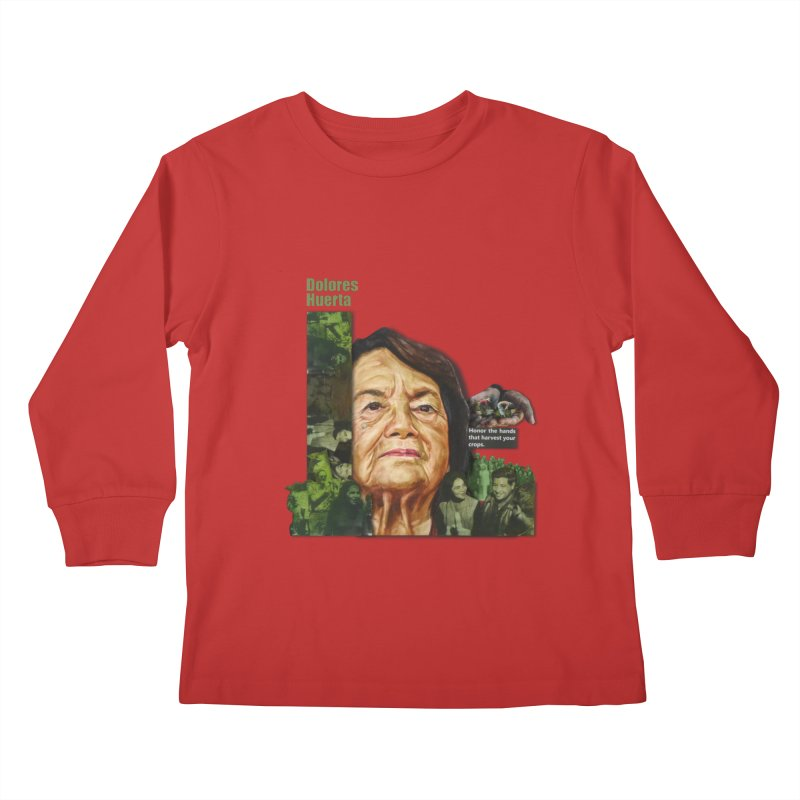 Dolores Huerta Kids Longsleeve T-Shirt by Afro Triangle's