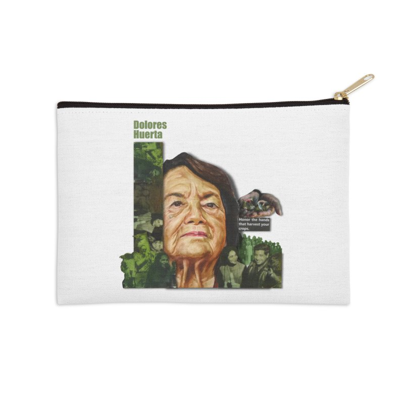 Dolores Huerta Accessories Zip Pouch by Afro Triangle's