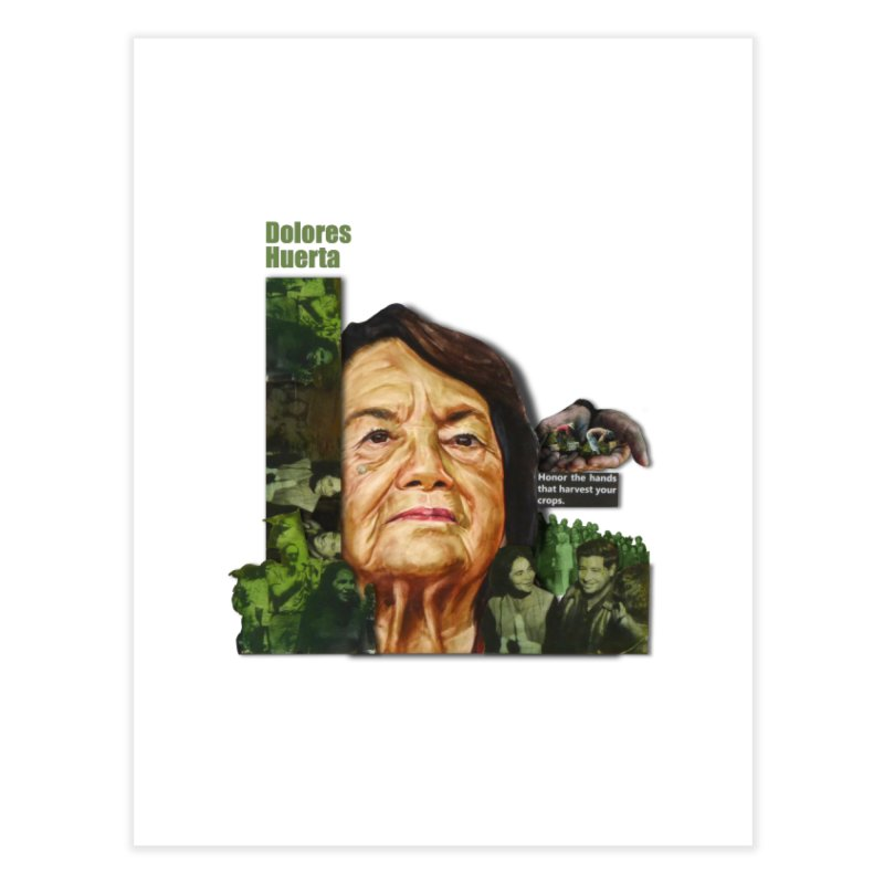 Dolores Huerta Home Fine Art Print by Afro Triangle's