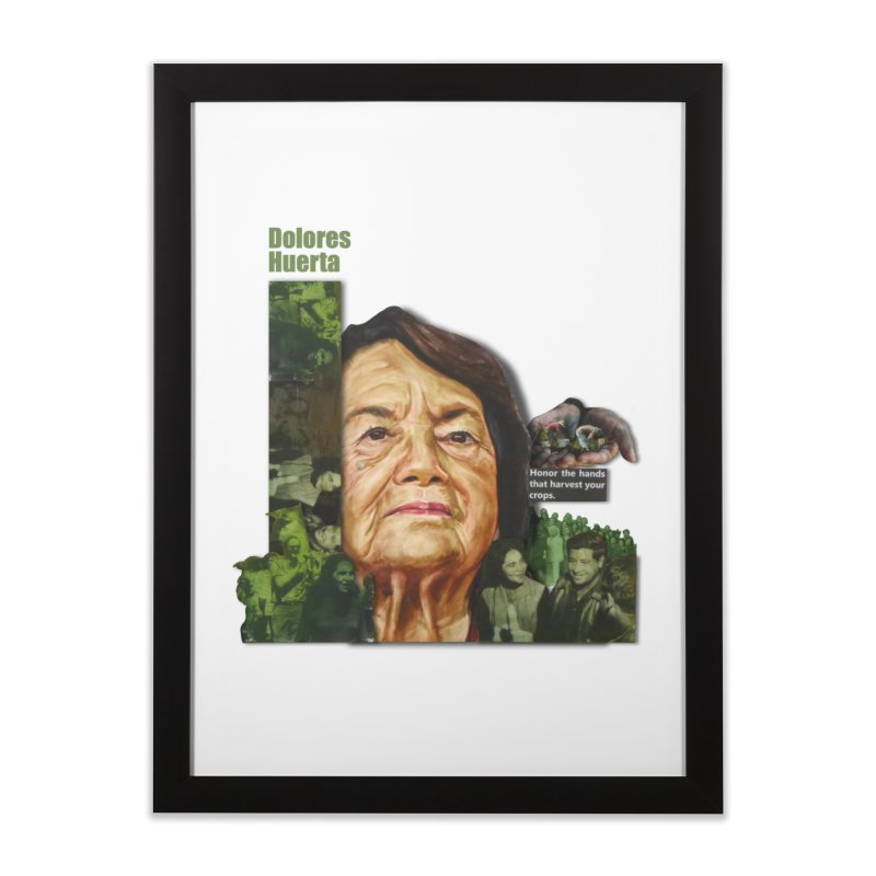 Dolores Huerta Home Framed Fine Art Print by Afro Triangle's