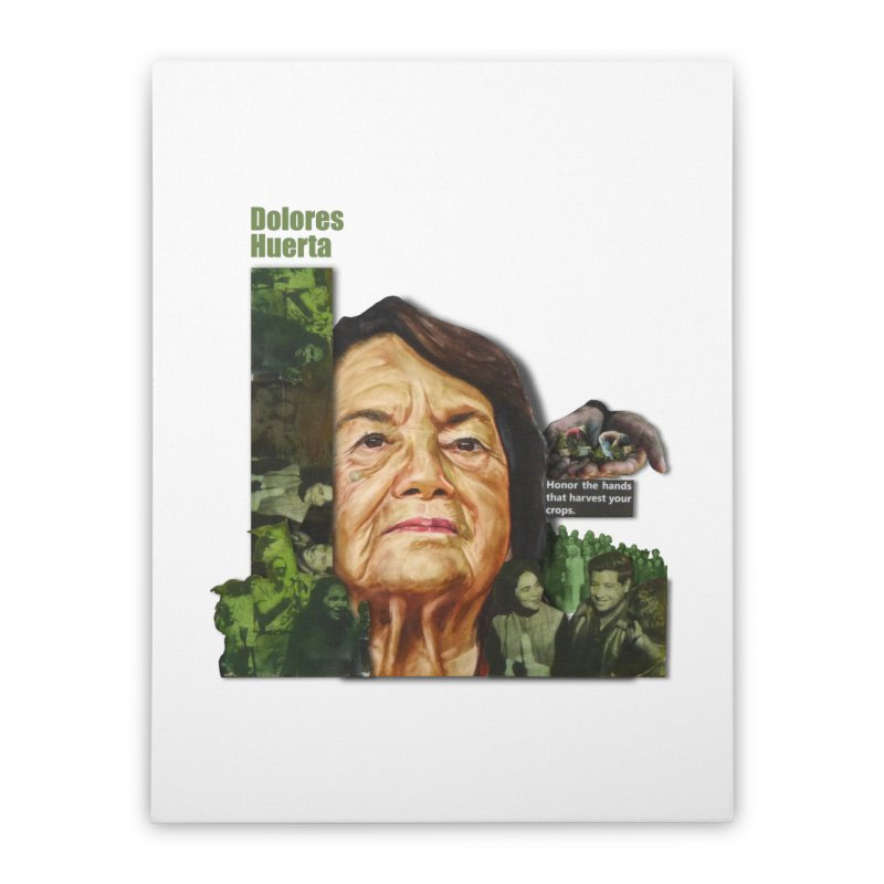 Dolores Huerta Home Stretched Canvas by Afro Triangle's