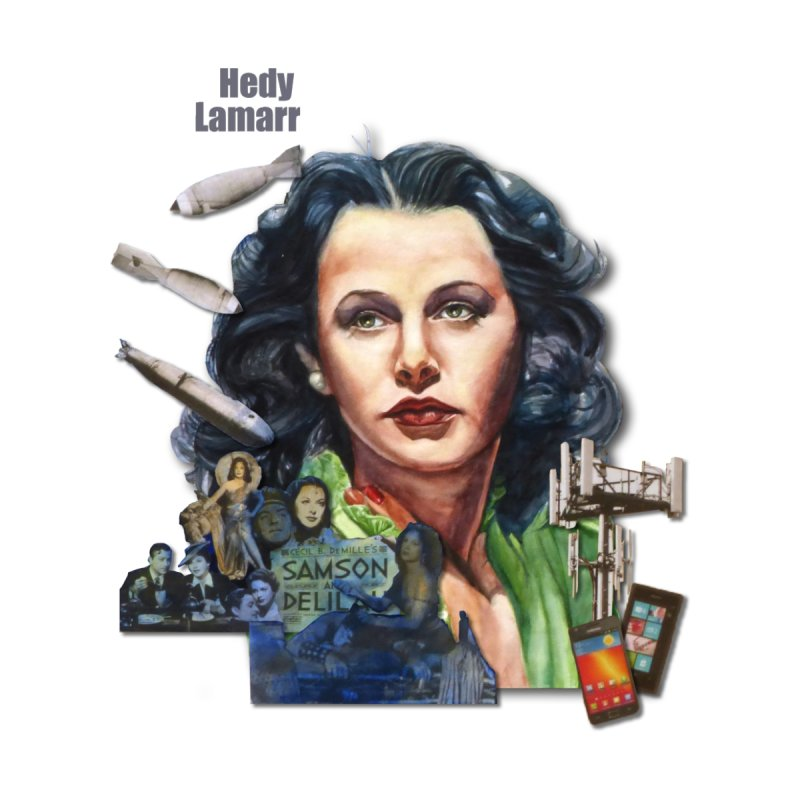 Hedy Lamarr Women's Longsleeve T-Shirt by Afro Triangle's