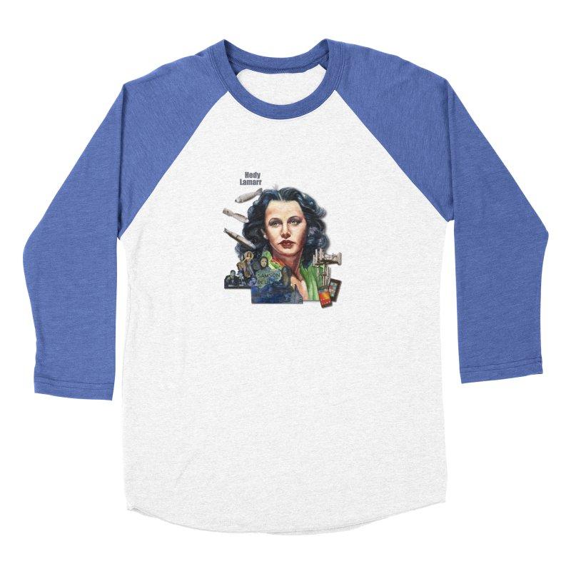 Hedy Lamarr Women's Baseball Triblend Longsleeve T-Shirt by Afro Triangle's