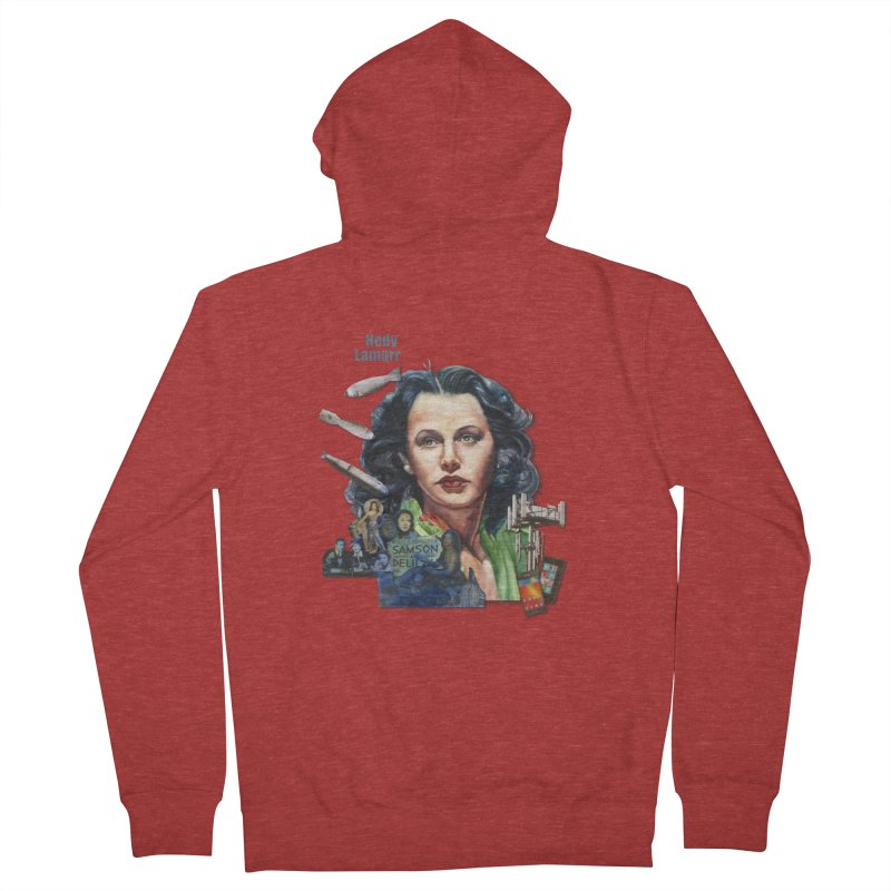 Hedy Lamarr Men's French Terry Zip-Up Hoody by Afro Triangle's