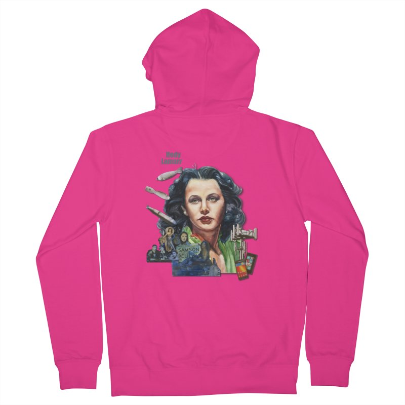 Hedy Lamarr Men's Zip-Up Hoody by Afro Triangle's
