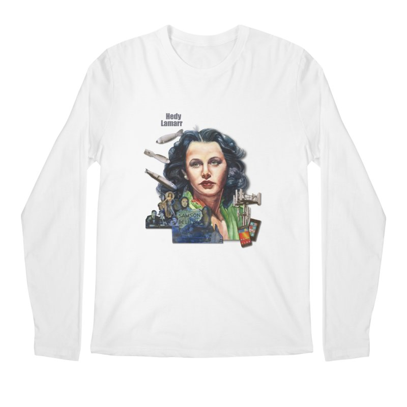 Hedy Lamarr Men's Longsleeve T-Shirt by Afro Triangle's