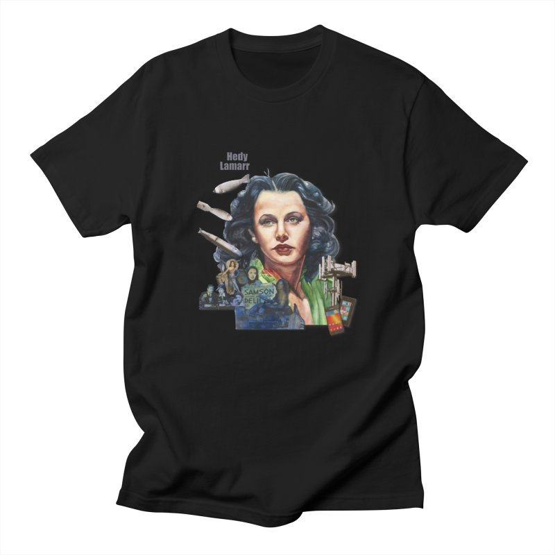 Hedy Lamarr Men's T-Shirt by Afro Triangle's