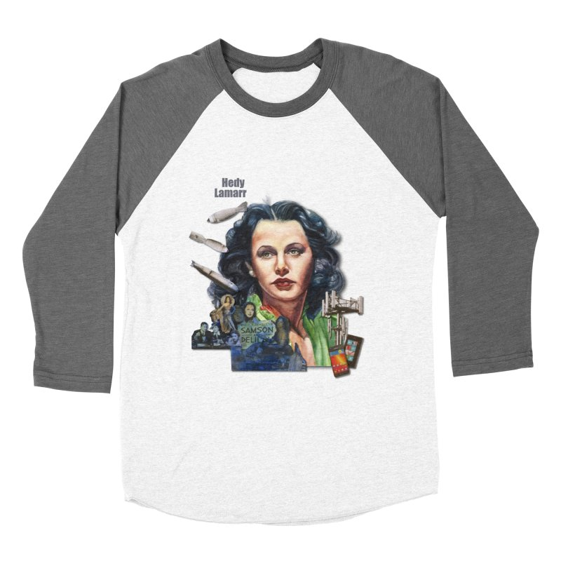 Hedy Lamarr Women's Baseball Triblend T-Shirt by Afro Triangle's