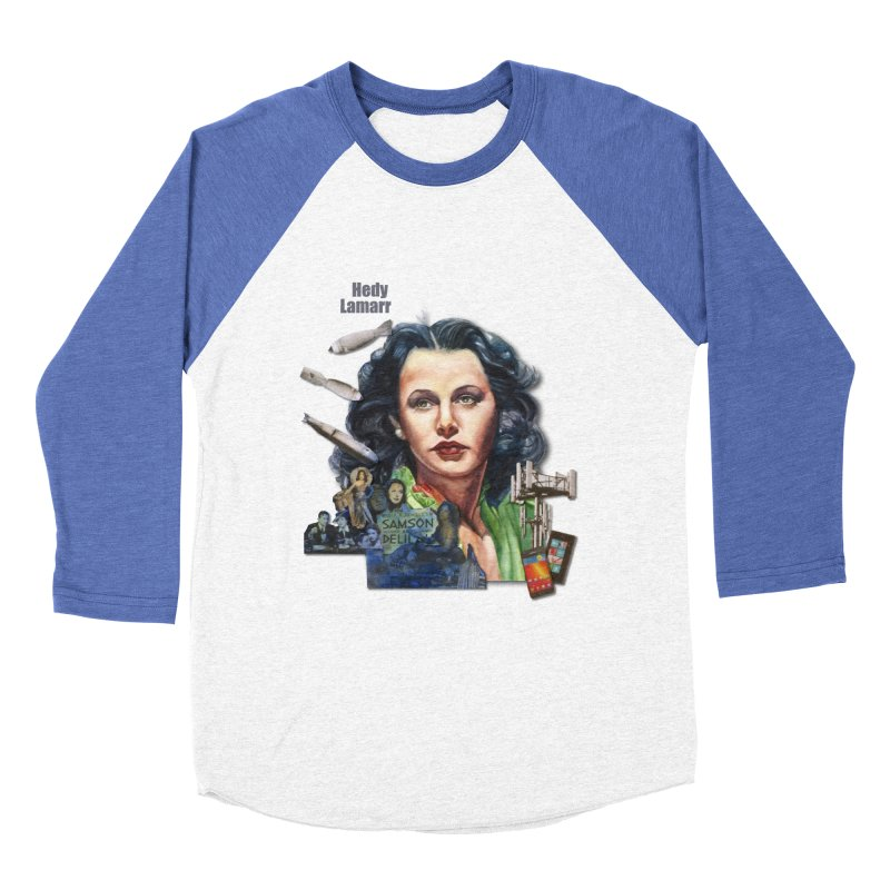 Hedy Lamarr Men's Baseball Triblend T-Shirt by Afro Triangle's