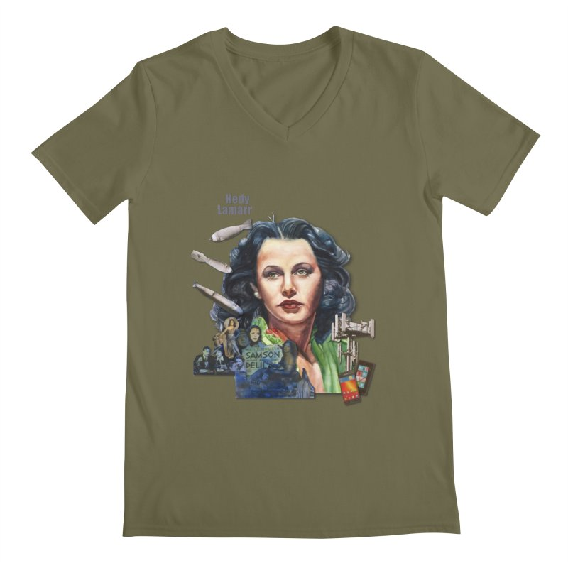 Hedy Lamarr Men's V-Neck by Afro Triangle's