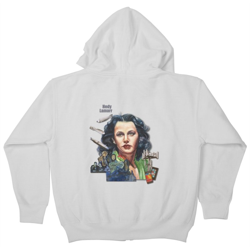 Hedy Lamarr Kids Zip-Up Hoody by Afro Triangle's