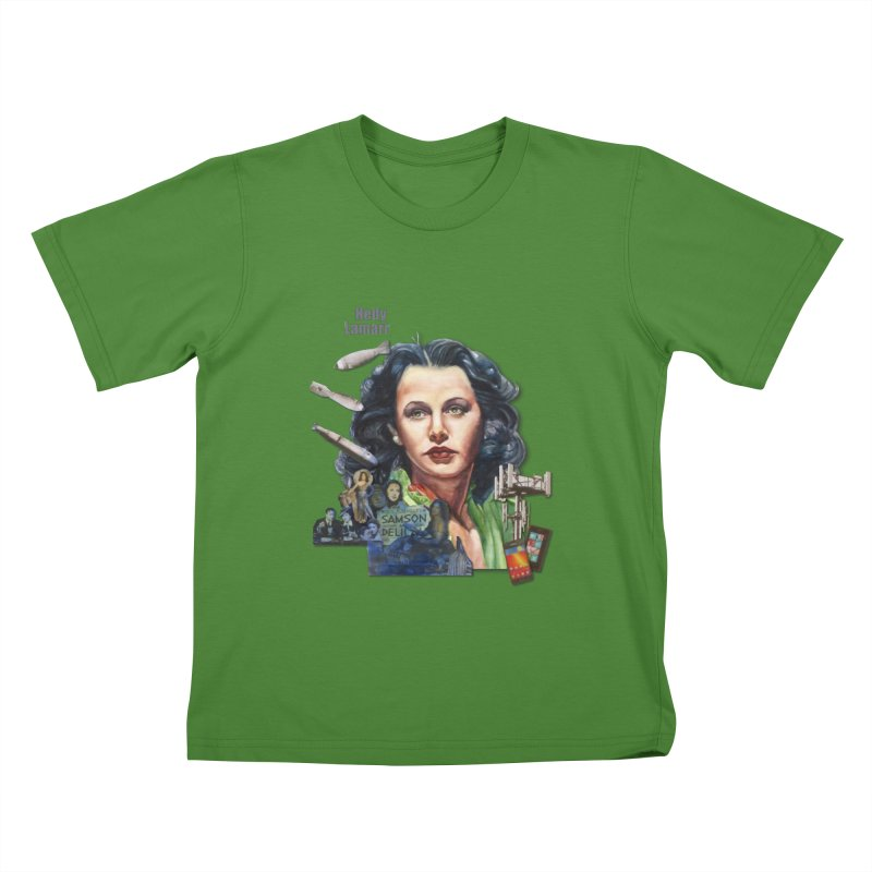 Hedy Lamarr Kids T-Shirt by Afro Triangle's