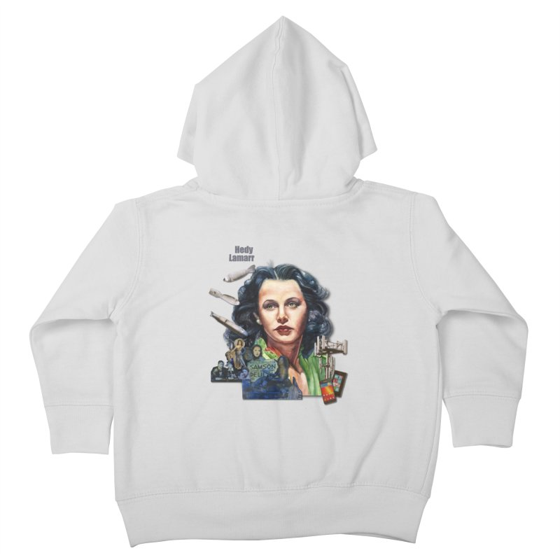Hedy Lamarr Kids Toddler Zip-Up Hoody by Afro Triangle's