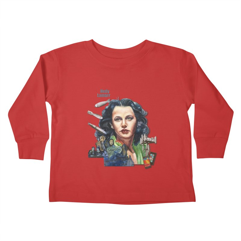 Hedy Lamarr Kids Toddler Longsleeve T-Shirt by Afro Triangle's