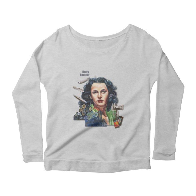 Hedy Lamarr Women's Longsleeve Scoopneck  by Afro Triangle's