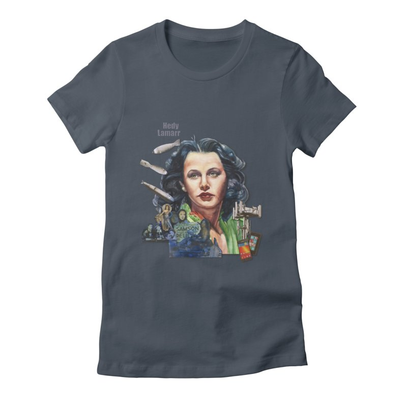 Hedy Lamarr in Women's Fitted T-Shirt Denim by Afro Triangle's