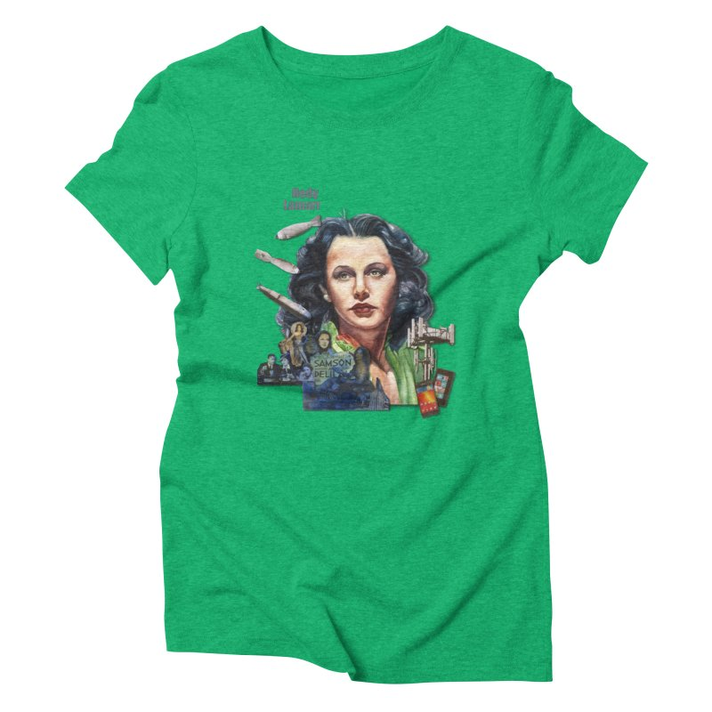 Hedy Lamarr Women's Triblend T-shirt by Afro Triangle's
