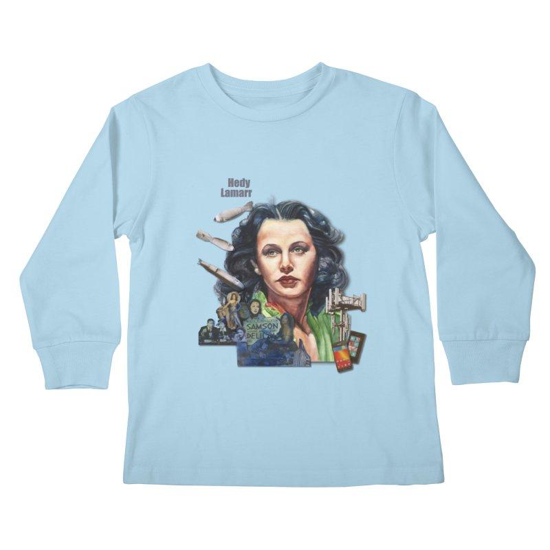 Hedy Lamarr Kids Longsleeve T-Shirt by Afro Triangle's