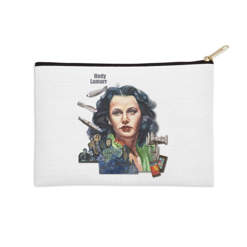 Hedy Lamarr Accessories Zip Pouch by Afro Triangle's