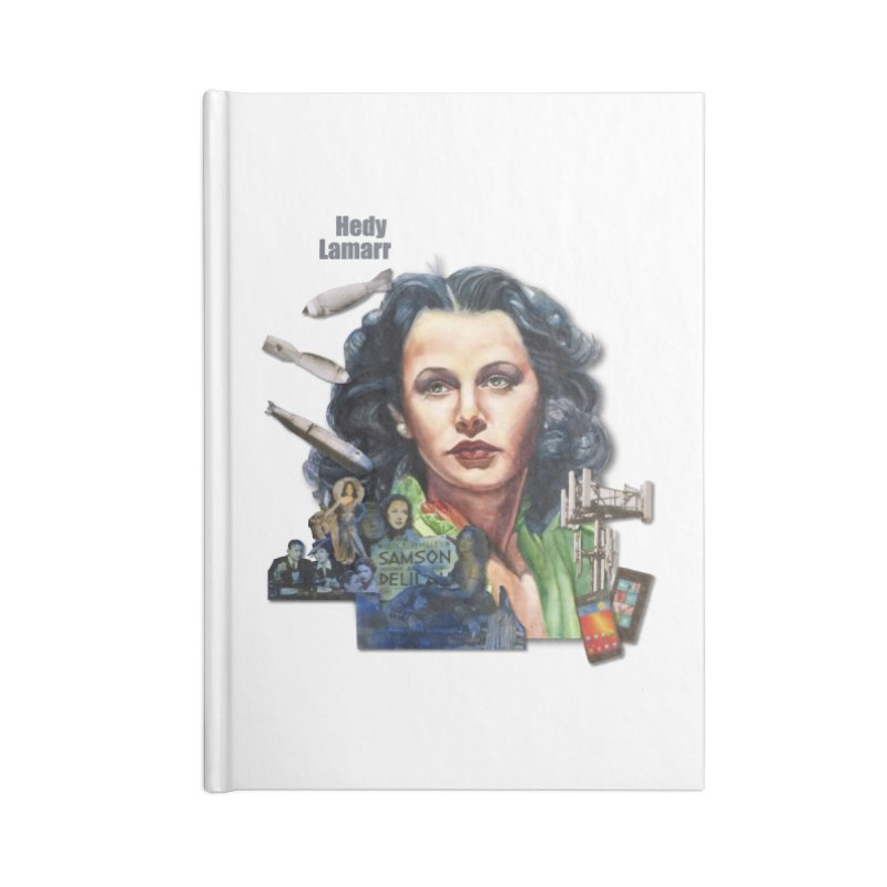 Hedy Lamarr Accessories Notebook by Afro Triangle's