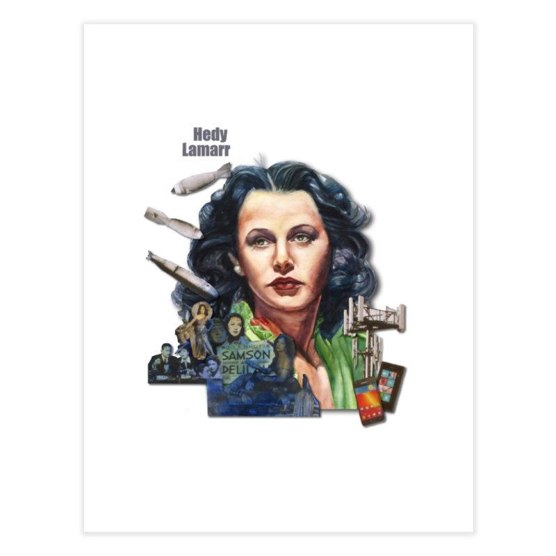 Hedy Lamarr Home Fine Art Print by Afro Triangle's