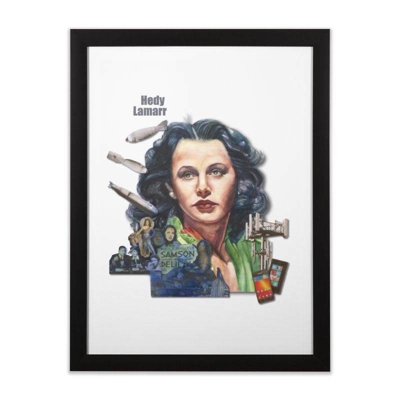 Hedy Lamarr Home Framed Fine Art Print by Afro Triangle's