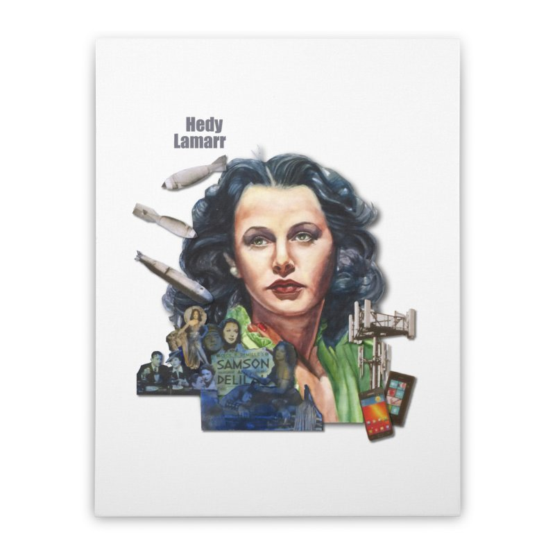 Hedy Lamarr Home Stretched Canvas by Afro Triangle's