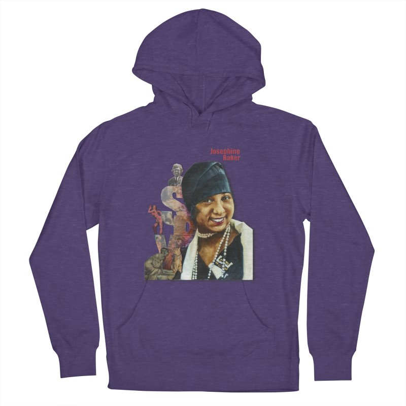 Josephine Baker in Women's French Terry Pullover Hoody Heather Purple by Afro Triangle's