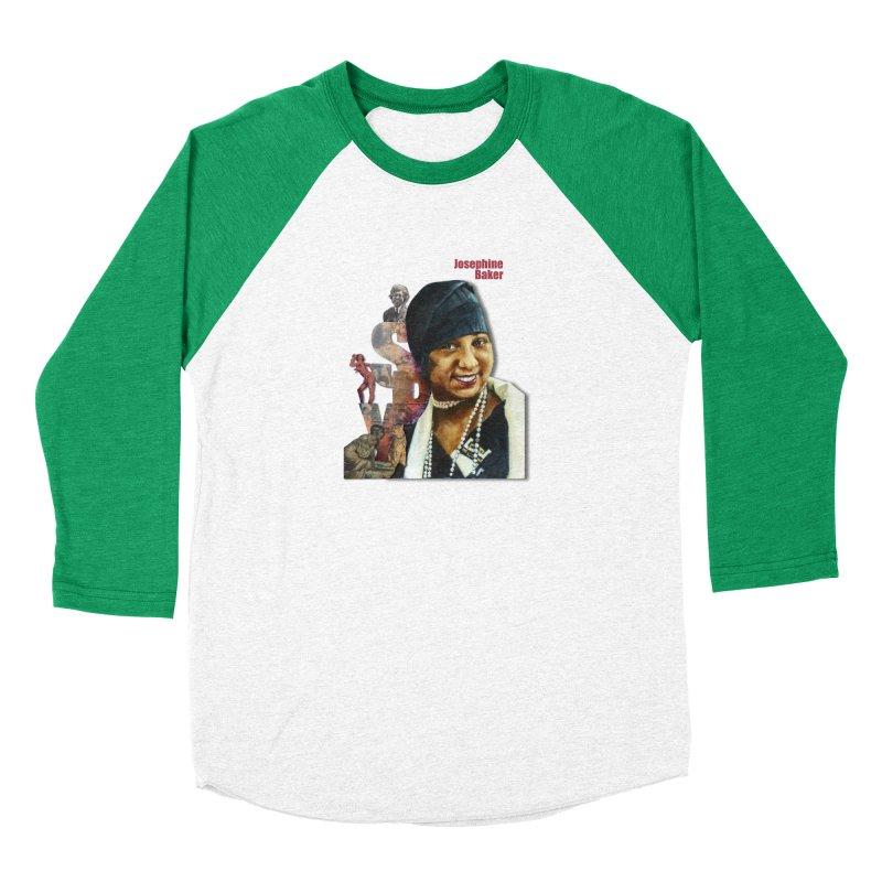 Josephine Baker Women's Baseball Triblend Longsleeve T-Shirt by Afro Triangle's