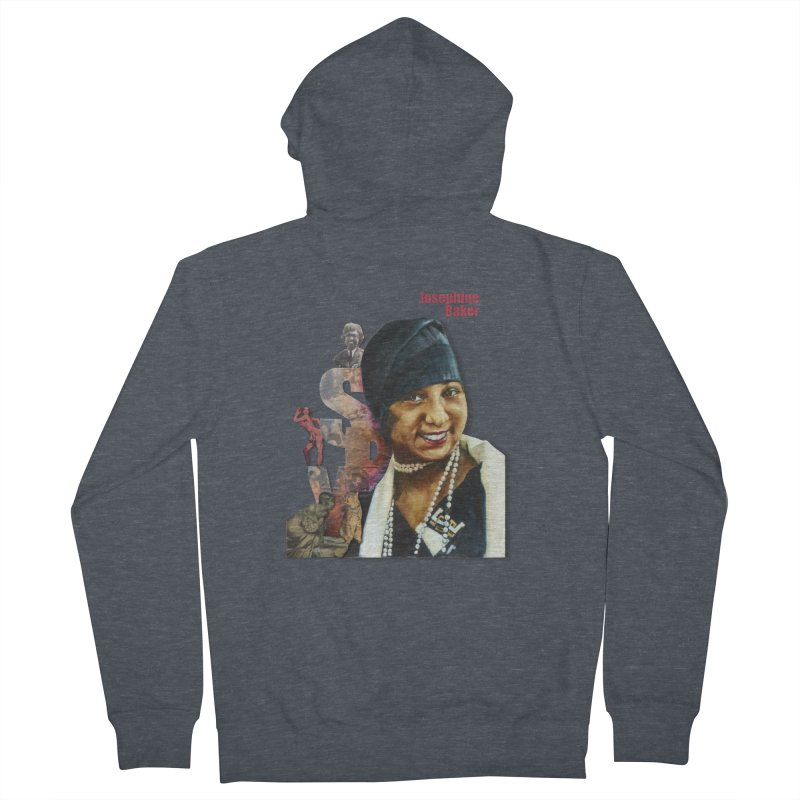 Josephine Baker Men's French Terry Zip-Up Hoody by Afro Triangle's