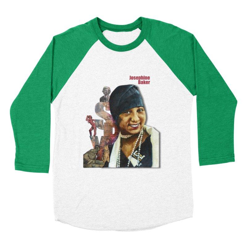 Josephine Baker Women's Baseball Triblend T-Shirt by Afro Triangle's