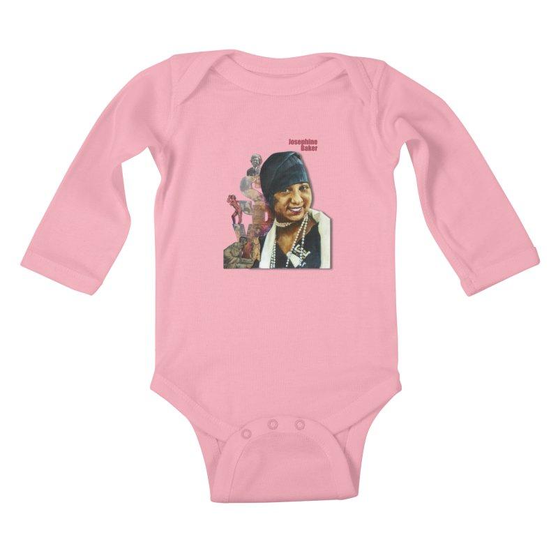 Josephine Baker Kids Baby Longsleeve Bodysuit by Afro Triangle's