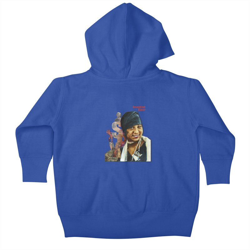 Josephine Baker Kids Baby Zip-Up Hoody by Afro Triangle's