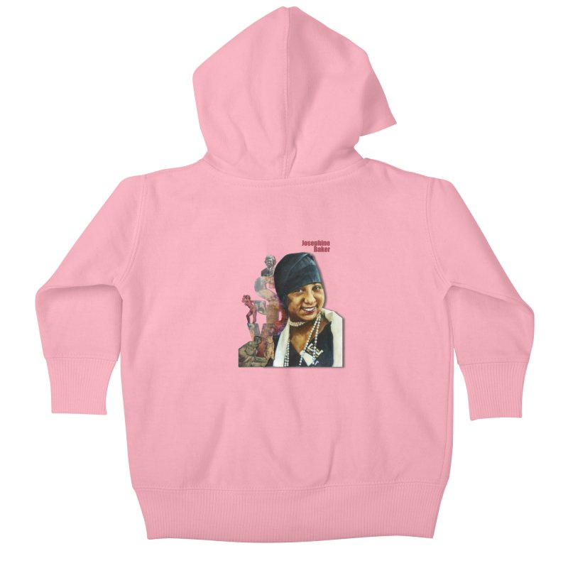 Josephine Baker Kids Baby Zip-Up Hoody by Afro Triangle's