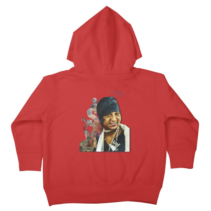 Josephine Baker Kids Toddler Zip-Up Hoody by Afro Triangle's