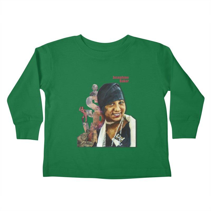 Josephine Baker Kids Toddler Longsleeve T-Shirt by Afro Triangle's