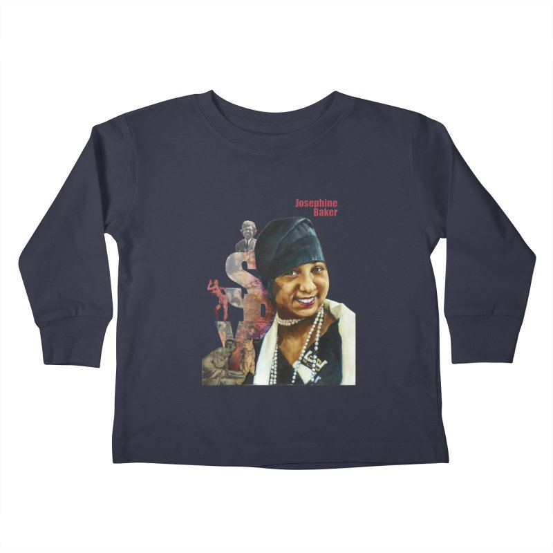 Josephine Baker Kids Toddler Longsleeve T-Shirt by Afro Triangle's