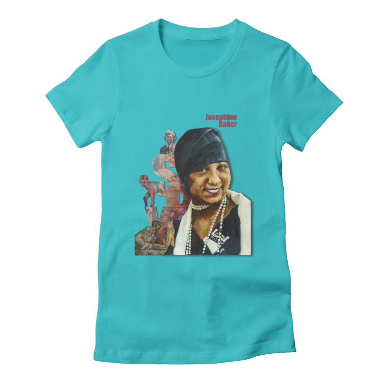 Josephine Baker Women's Fitted T-Shirt by Afro Triangle's