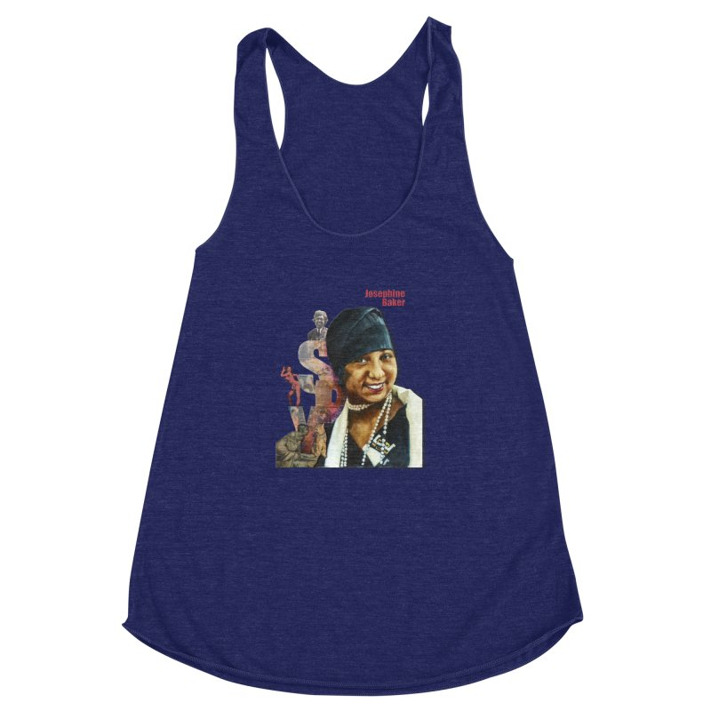 Josephine Baker Women's Racerback Triblend Tank by Afro Triangle's