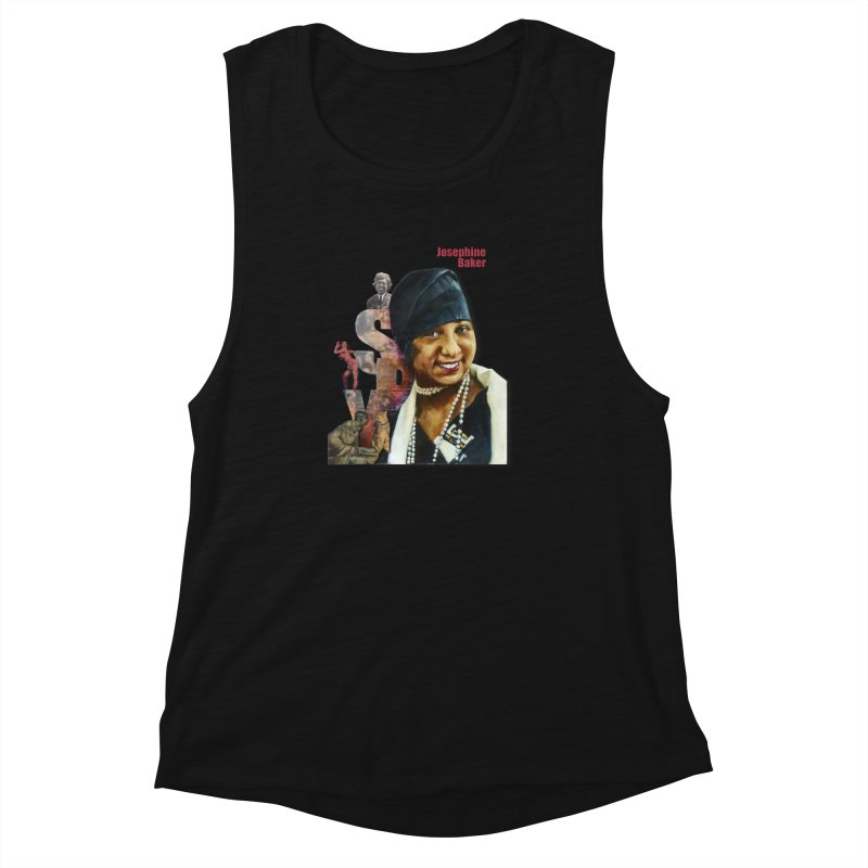 Josephine Baker Women's Muscle Tank by Afro Triangle's