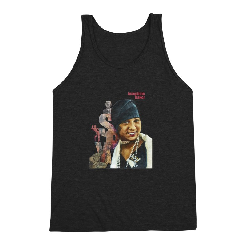 Josephine Baker Men's Triblend Tank by Afro Triangle's