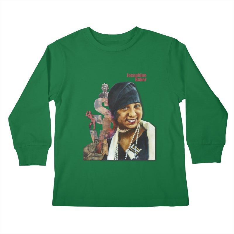 Josephine Baker Kids Longsleeve T-Shirt by Afro Triangle's