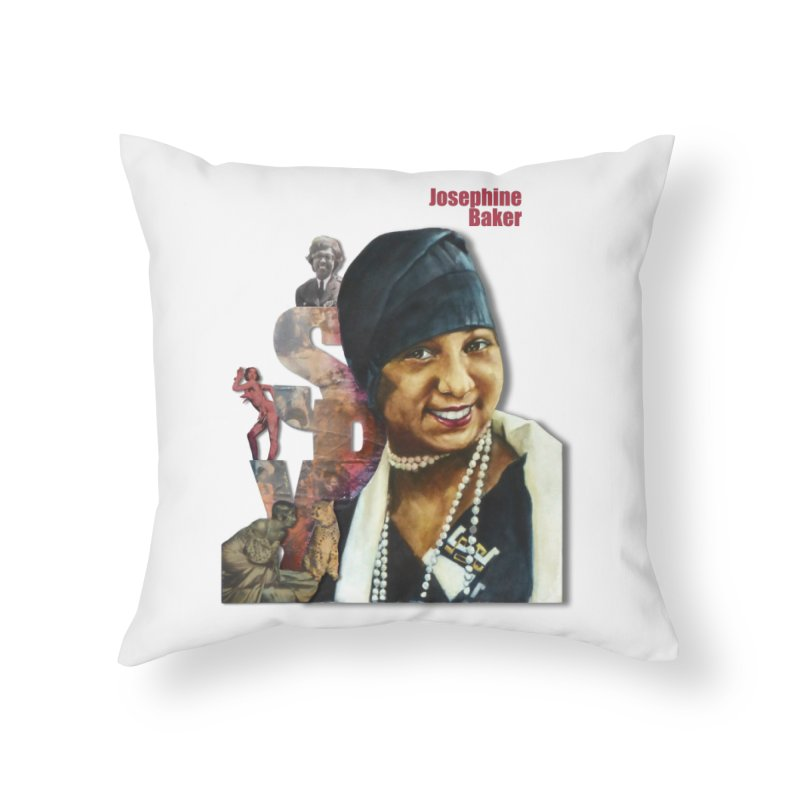 Josephine Baker Home Throw Pillow by Afro Triangle's