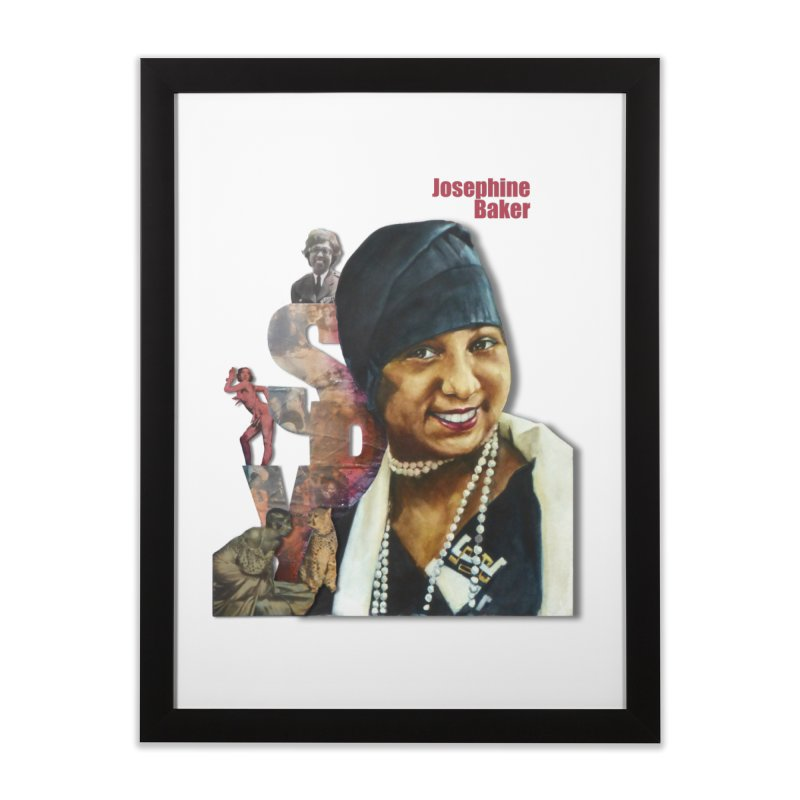 Josephine Baker Home Framed Fine Art Print by Afro Triangle's