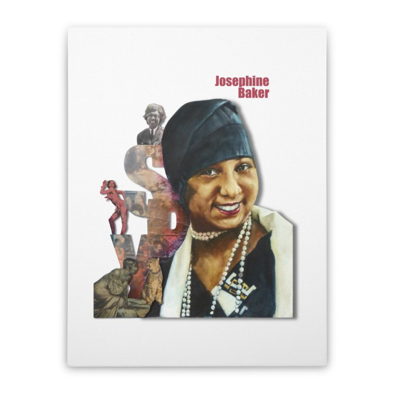 Josephine Baker Home Stretched Canvas by Afro Triangle's