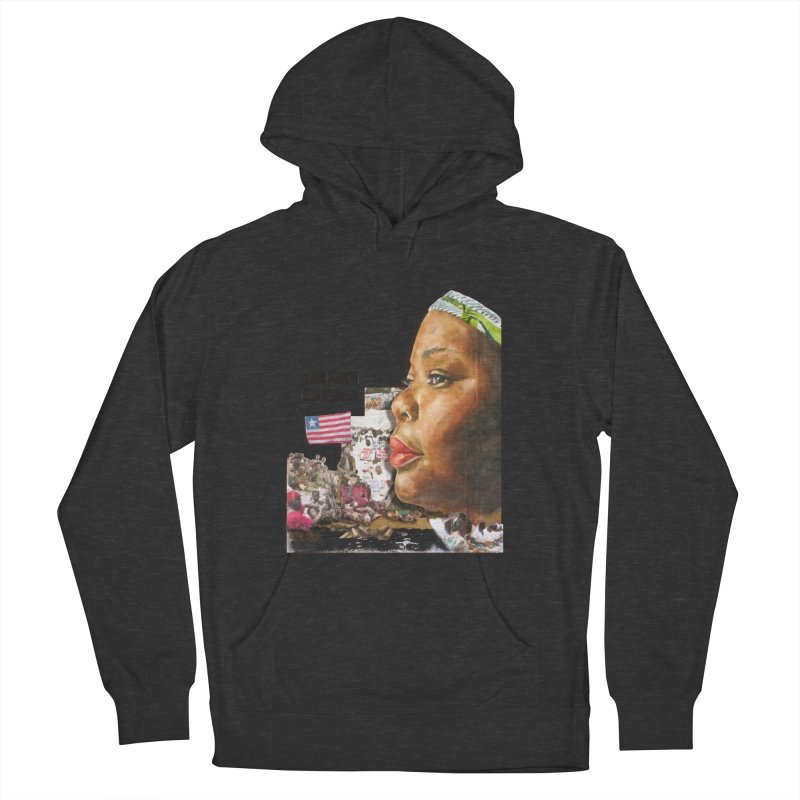 Leymah Gbowee  Remix Women's French Terry Pullover Hoody by Afro Triangle's